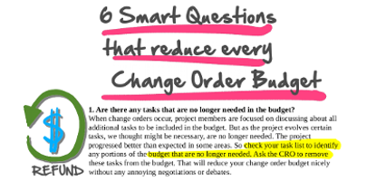 CRO Change Order received! – Why Worry?